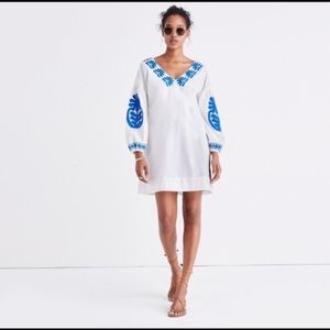 Madewell Bianca embroidered dress